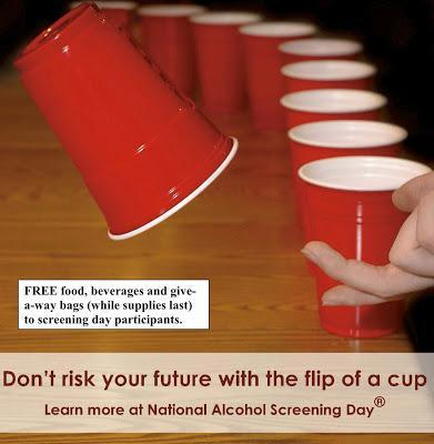 Thursday is National Alcohol Screening Day