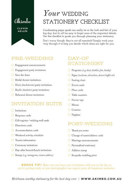 at home wedding checklist your wedding stationery checklist paperblog 27875