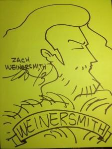 A lovely self-portrait of Zach Weinersmith.