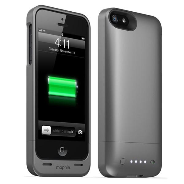 Mophie Juice Pack Helium Battery Case for iPhone 5 - Metallic Black