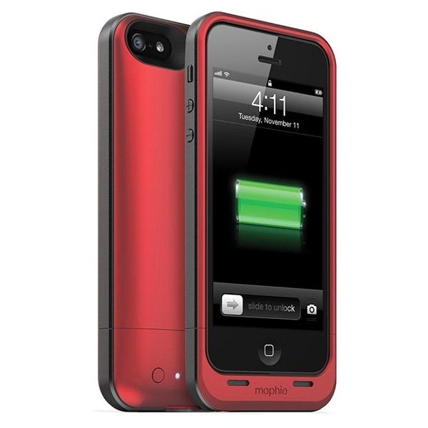 Mophie Juice Pack Air Battery Case for iPhone 5 - 1700mAh - Red