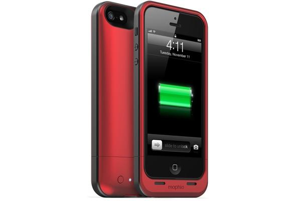 Red Mophie Juice Pack Air Battery Case for iPhone 5