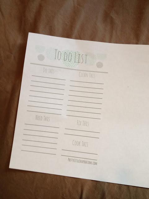 {Free Printable} To Do List