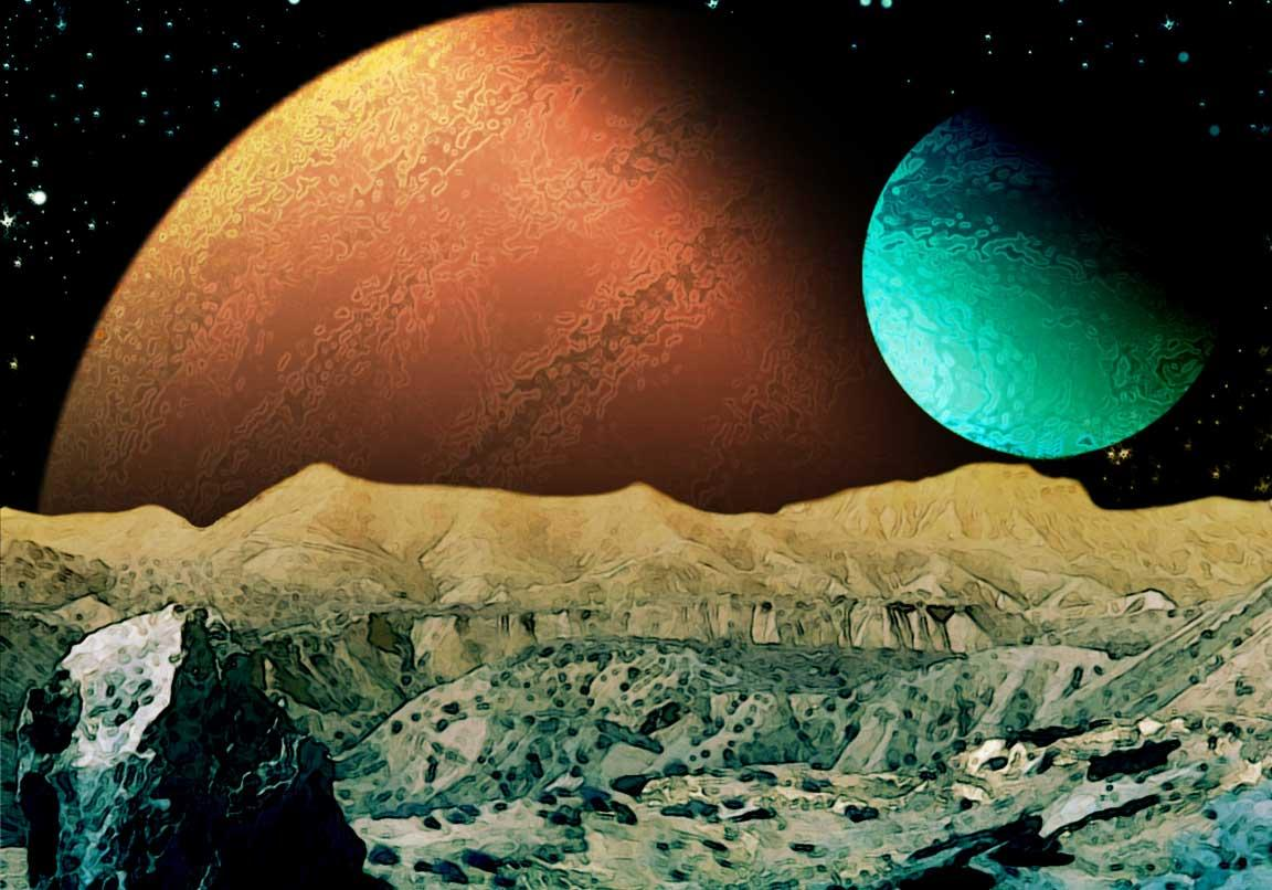 Two WorldsTwin Giant Planets Orbiting Each Other and a Li ...