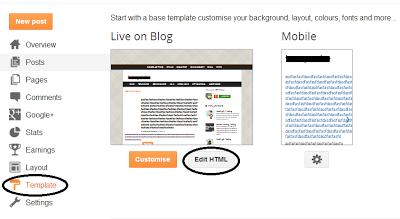 Edit Template HTML