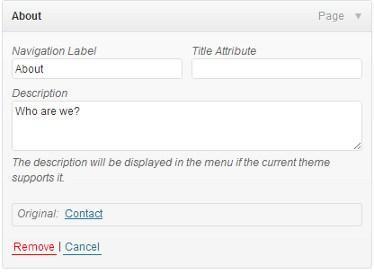 Add Descriptions to Menu in your Wordpress Templates