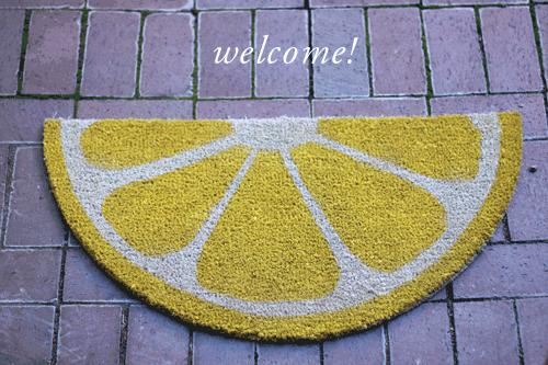 Lovely Weekend Project: Fruit Welcome Mats ...