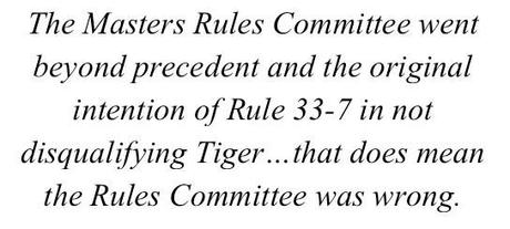 HOW THE MASTERS RULES COMMITTEE RULING ON TIGER LED TO WORLD PEACE
