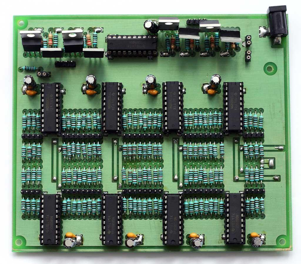 LED Cube Driver Circuit - Complete Board - Front 01