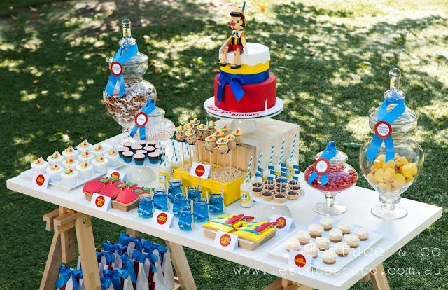 Pinocchio inspired 1st birthday party by Lettuce & Co