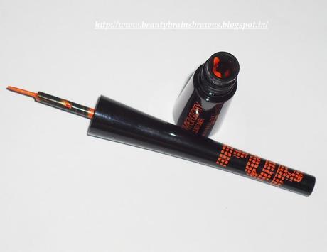 Maybelline Hyperglossy Liquid Liner - Shade Black and Maybelline Hyper Glossy RunWay Pop Liquid Eyeliner - Shade Tangerine Orange