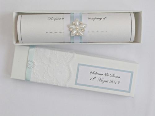 Wedding invitation samples paperblog wedding scroll invitation stopboris Images