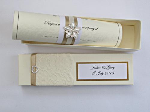 Wedding invitation samples paperblog wedding scroll invitation stopboris Image collections