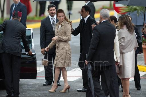 Worn in Week: Lalla Salma Wears Burberry to Receive Hollande ...lalla salma