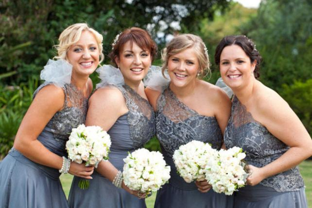 one shoulder bridesmaids dress