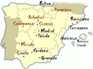 spain cities map 300x224 Studying Spanish Abroad in Argentina or Spain
