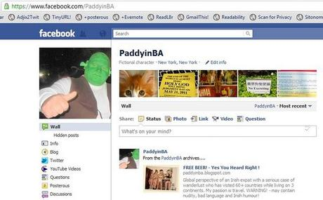 PaddyinBA on Facebook