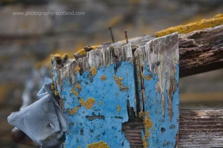 Photo - corner of the remains of an island greenhouse, Taransay, Scotland