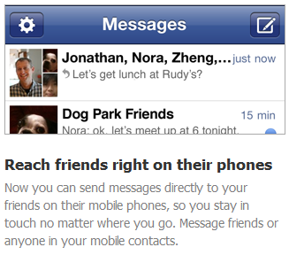 Facebook Launches Messenger App for iOS & Android