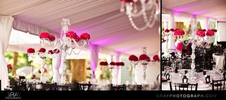 Crystal candelabra centerpieces for sale!