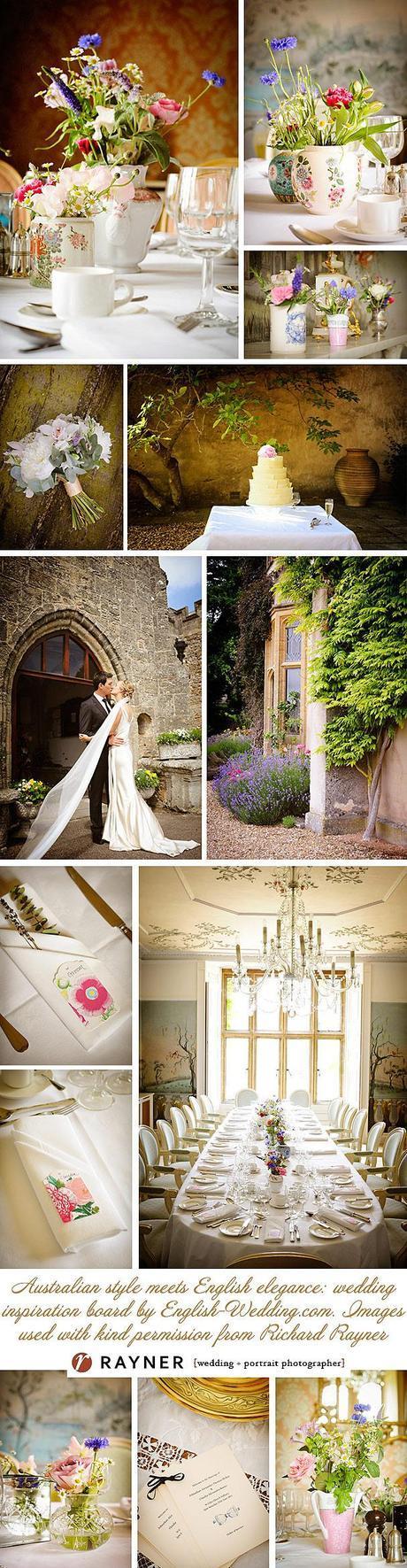vintage countryside english wedding inspiration board