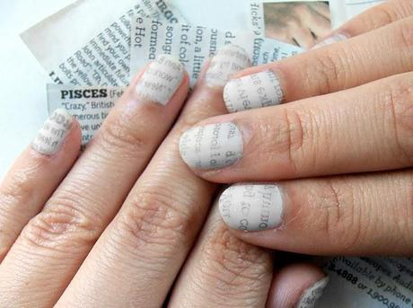 Wonder Wednesdays: Newspaper Nail Tutorial