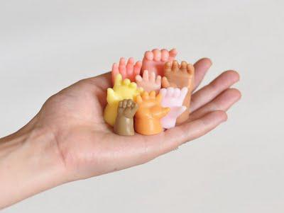 Hand Molded Hand Soaps: Hands Up!