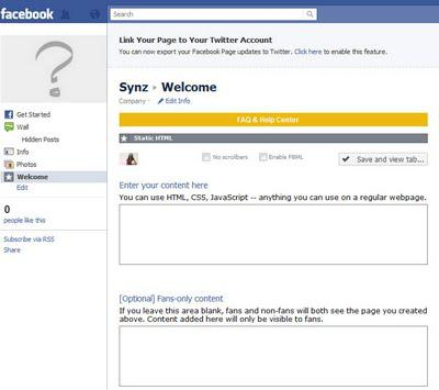 How to Customize your Facebook Fan Page