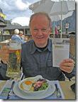Lunch Swiss Style (Rosti with a Friend Egg Washed Down with Beer)