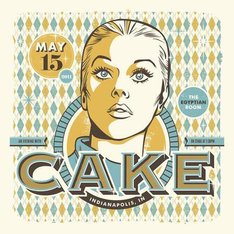 Cake gig poster