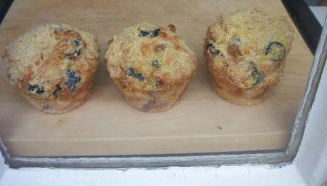 Chilli and olive muffins