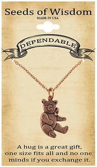 bear charm pendant necklace