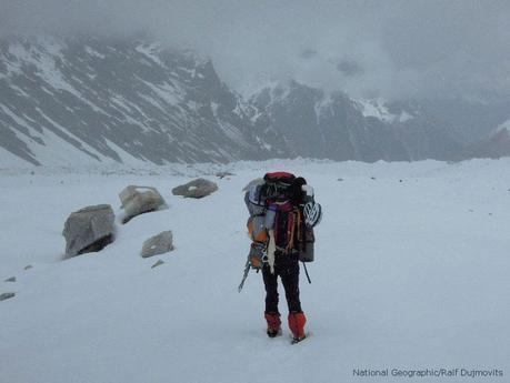 Karakoram 2011: K2 Team Descending To Camp 1