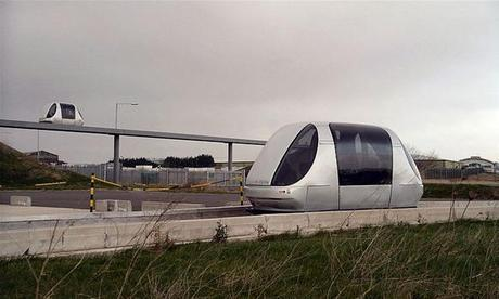 """Personal Rapid Transport """"Pods"""" Arrive at Heathrow Airport"""