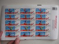 Sonic stamps from the belgian post