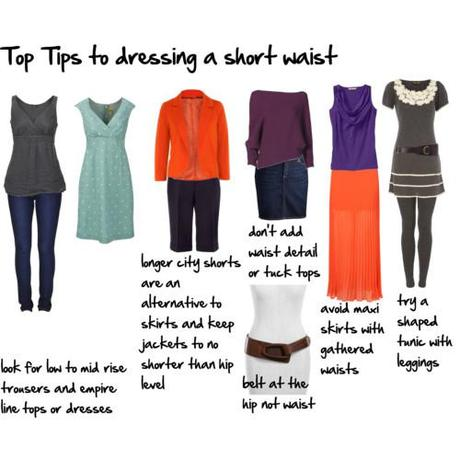top tips to dressing a short waist