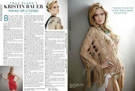 Kristin Bauer featured in Summer 2011 Runway Magazine
