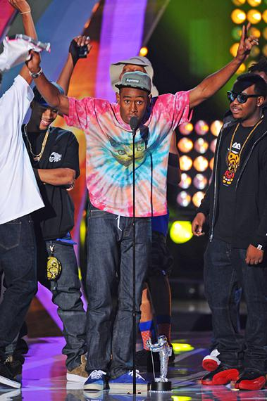 Tyler, The Creator contributes one of the biggest highlights of the 2011 MTV Video Music Awards in Los Angeles.