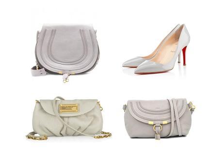 My little pearl grey Céline Trio bag