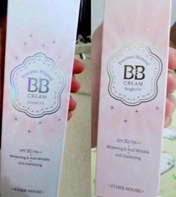 What's difference between Precious Mineral BB Cream Bright Fit and the new BB Cream Cotton Fit?