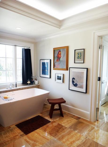 DC Design House Master Bath and Interview with designer Darlene Molnar and artist Natalie Steinebrunner!