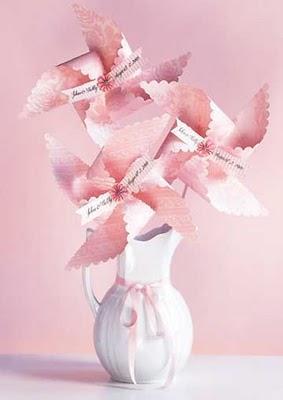 pinwheel wedding, non floral wedding centerpieces, wedding centerpiece ideas