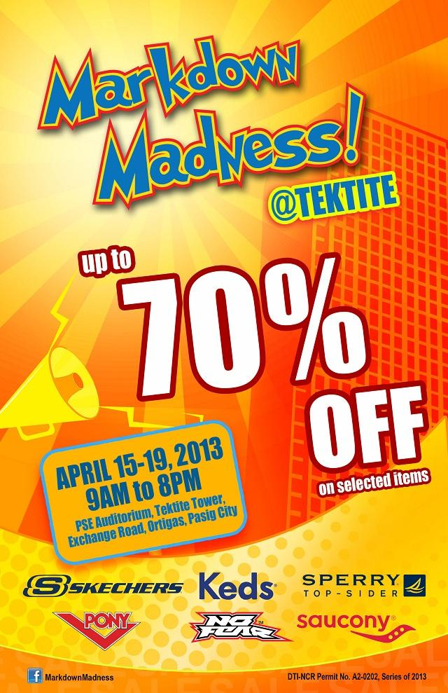 Markdown Madness Shoe Sale at Tektite