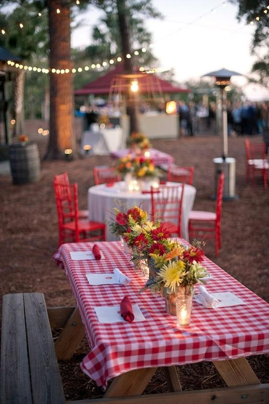 Picnic Wedding Tables