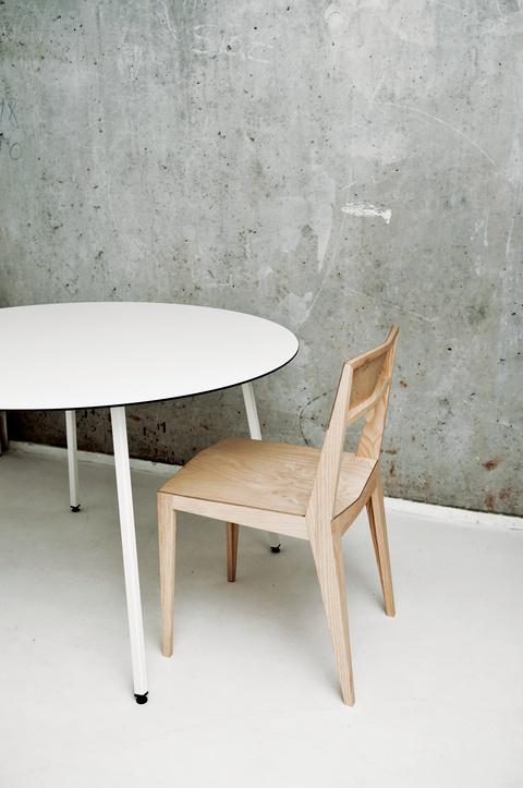 Table and chair by 45 Kilo