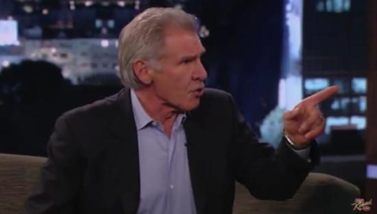Watch: Harrison Ford Avoids Star Wars Questions on Jimmy Kimmel Live