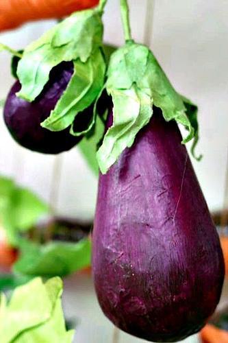 paper-mache-eggplants