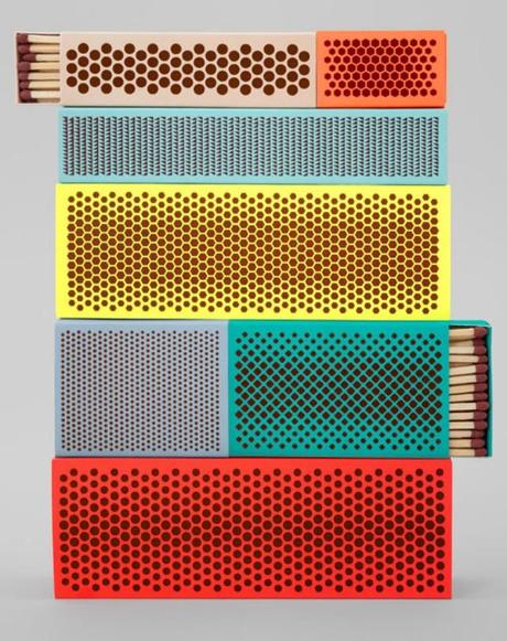 Designer matchbook boxes and wrapping paper from Sweden look nice