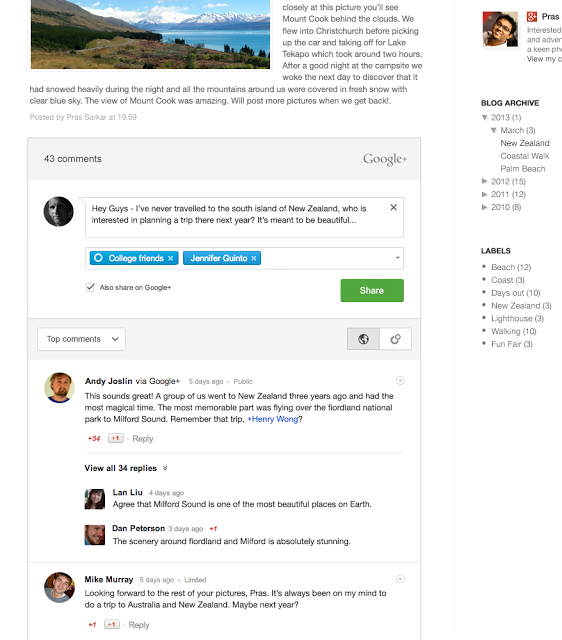 Bringing Google+ Comments to Blogger