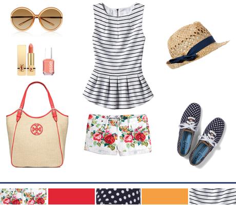 Floral + Stripes + Polka-Dots...